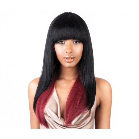 ISIS Brown Sugar Human Hair Blend Full Wig - BS103 (COLOR: 1 - JET