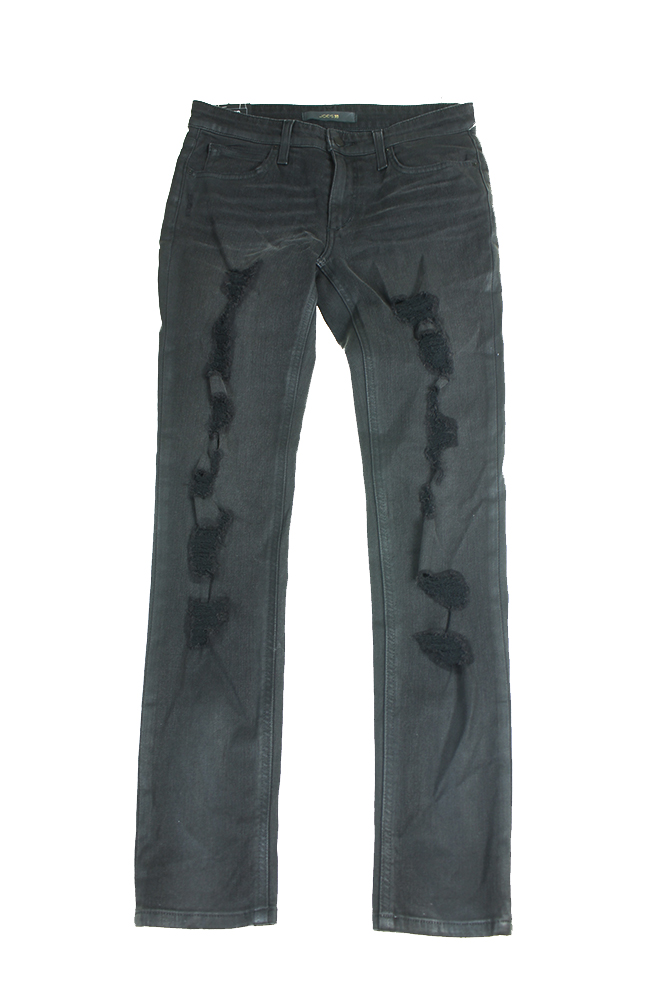 Joes Black Shredded Slim Boyfriend Skinny Jeans