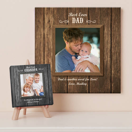 Personalized Best Ever Photo Canvas, Available in 2 Sizes and 2 Colors