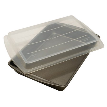 Mainstays Non Stick 13 Quot X 9 Quot X 2 Quot Covered Cake Pan