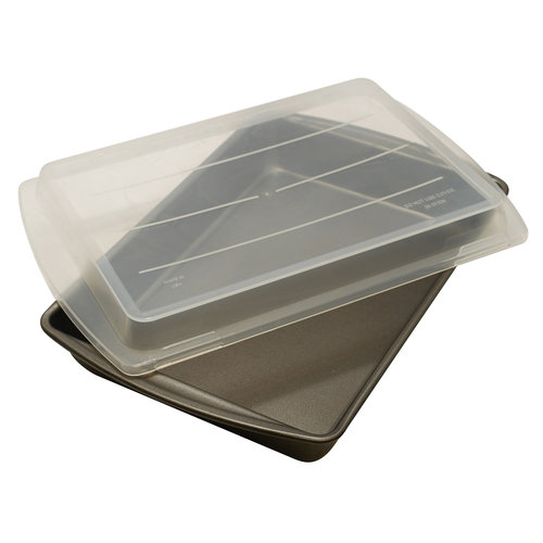 """MainStays Non-Stick 13"""" x 9"""" x 2"""" Covered Cake Pan"""