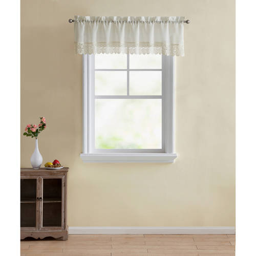 - Better Homes & Gardens Lace Leaves Kitchen Curtain Tiers and Valances