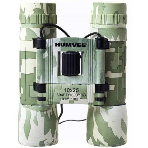 Anti-Reflective Compact Binoculars with Carrying Case, Humvee, 10x25, Comes in Multiple Colors by Humvee