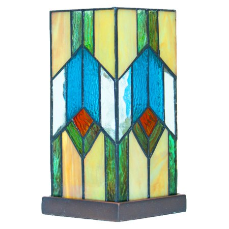 - River of Goods 15223 Stained Glass Mission Uplight Table Lamp