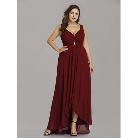 d5fec4ef38 Ever-Pretty - Ever-Pretty Womens Vintage Chiffon High Low Long Evening  Party Mother of the Bride Maxi Dresses for Women 9983P Burgundy US 18 -  Walmart.com