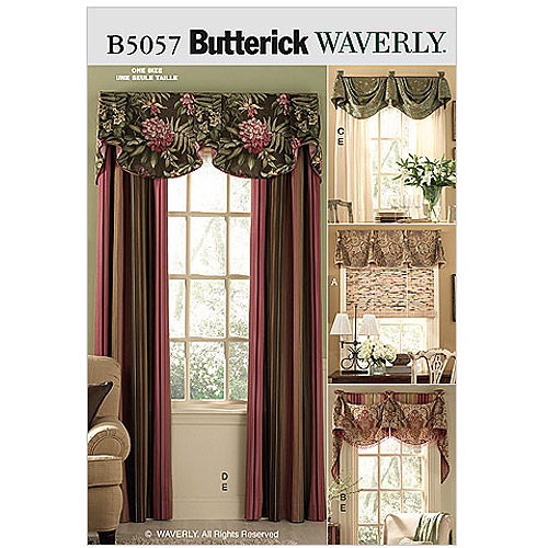 Butterick Pattern Window Treatments, All Sizes