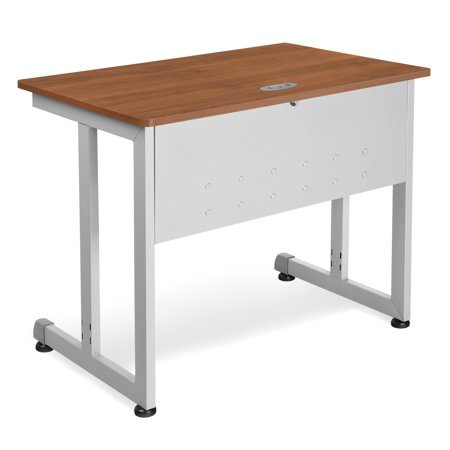 Ofminc Office Furniture 24 Inch X 36 Inch Steel Frame Multi-Purpose Modular Training Utility Computer Cherry Table
