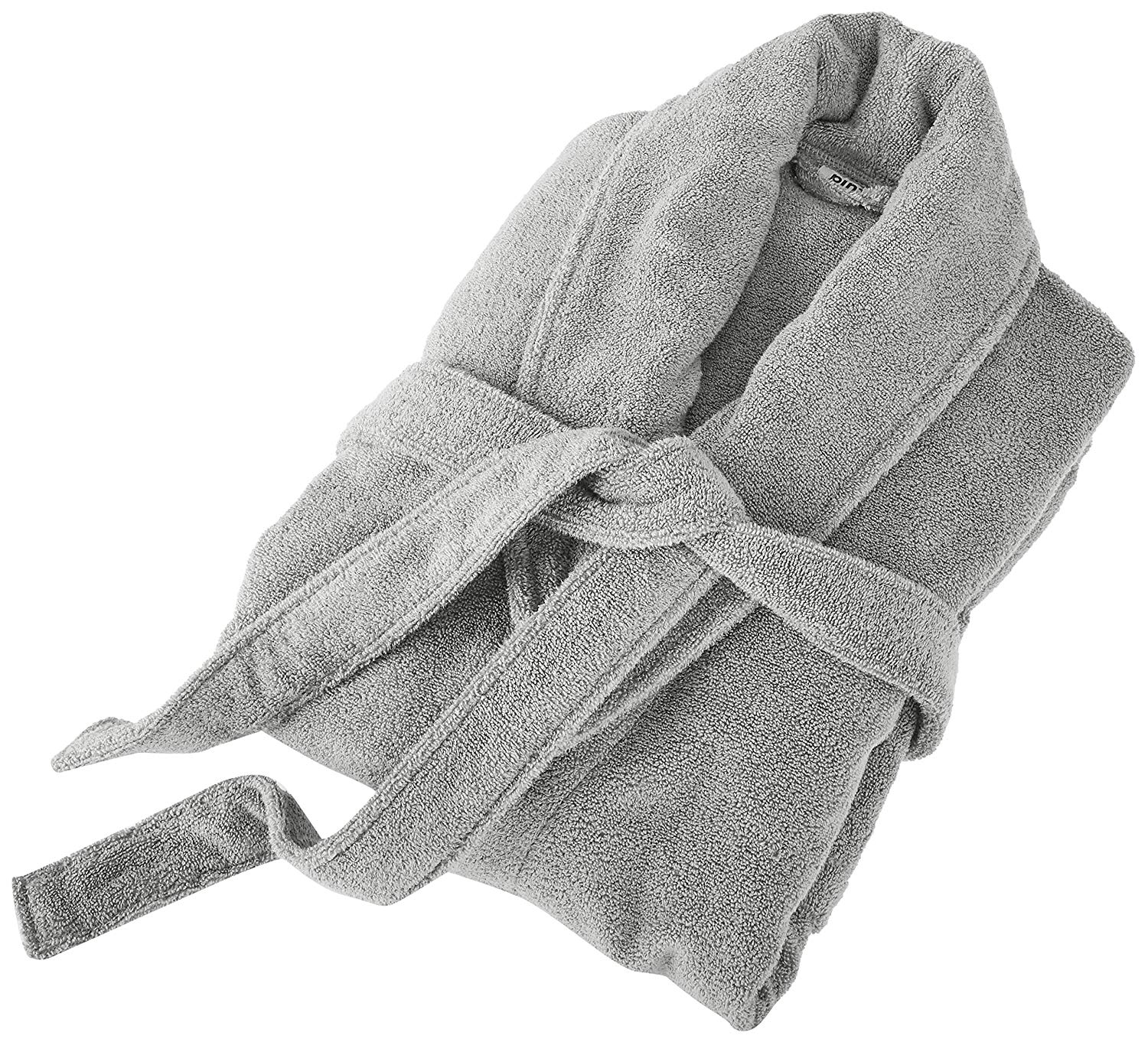 Terry Cotton Bathrobe, Platinum, Small/Medium