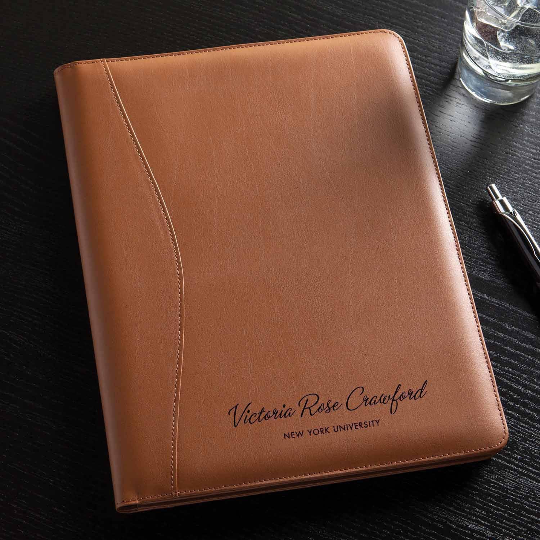 46fdc00039aa Personalized Or Monogram Leather Padfolio - Walmart.com