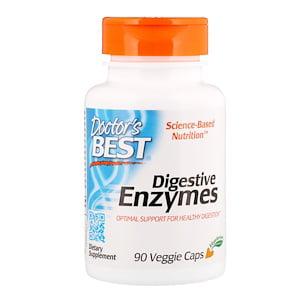 Doctor's Best, Digestive Enzymes, 90 Veggie Caps (Pack of