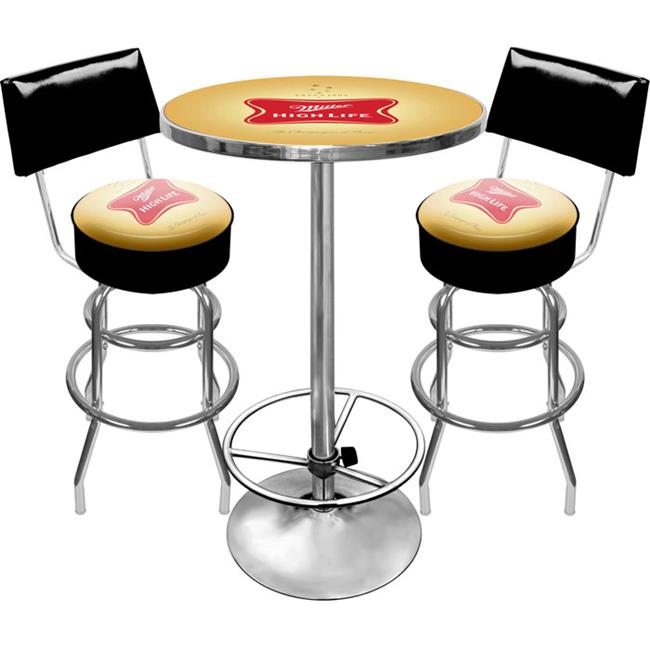 Trademark Poker MHL9900 Ultimate Miller High Life Pub Table and Stools with Back