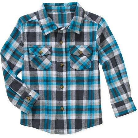 88dc0b3b2 Healthtex - Baby Toddler Boy Long Sleeve Flannel Shirt - Walmart.com