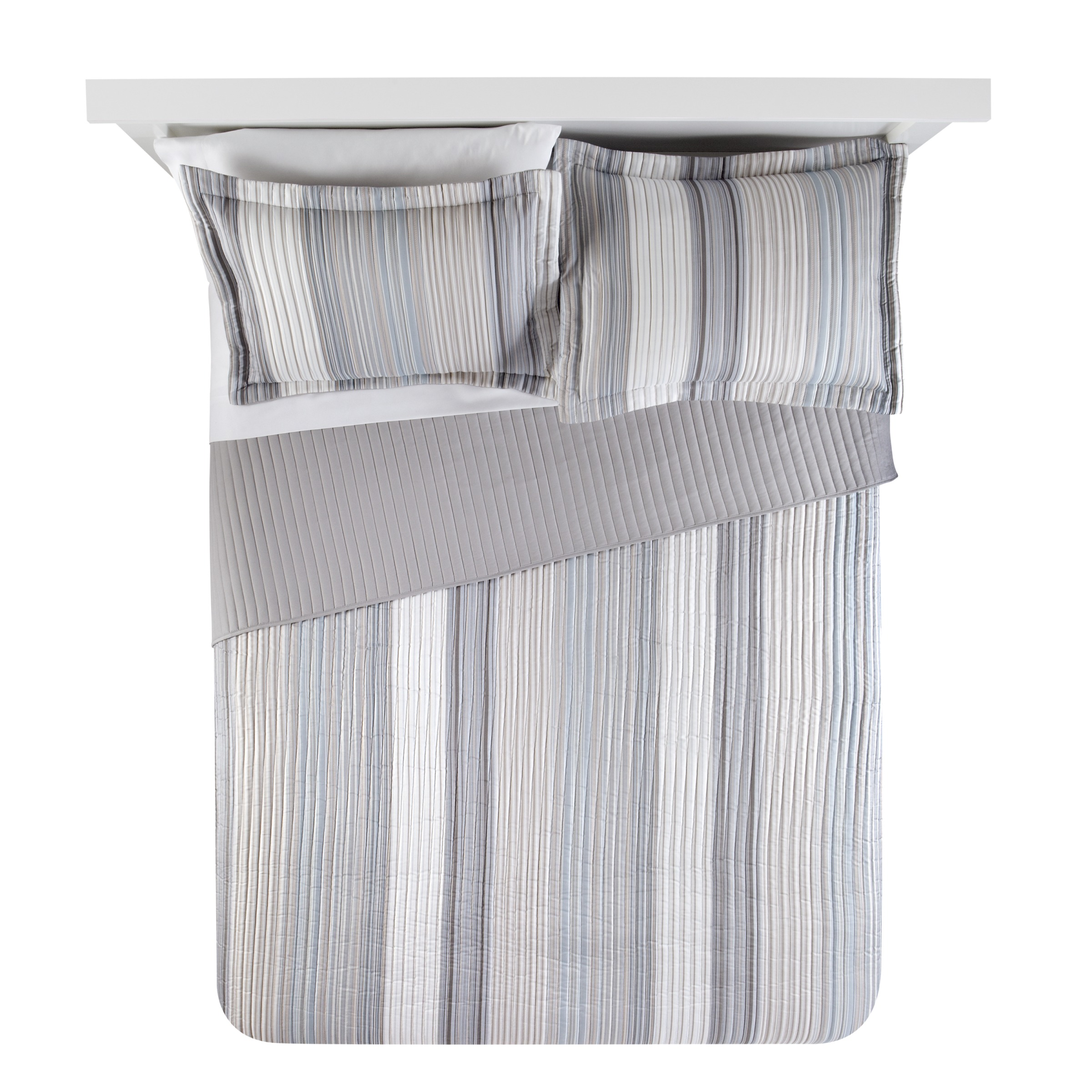 Mainstays Natural Stripe Quilt, 1 Each