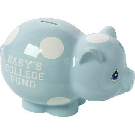 Precious Moments Baby's College Fund Ceramic Piggy Bank Boy 164008 - Ceramic Piggy Bank