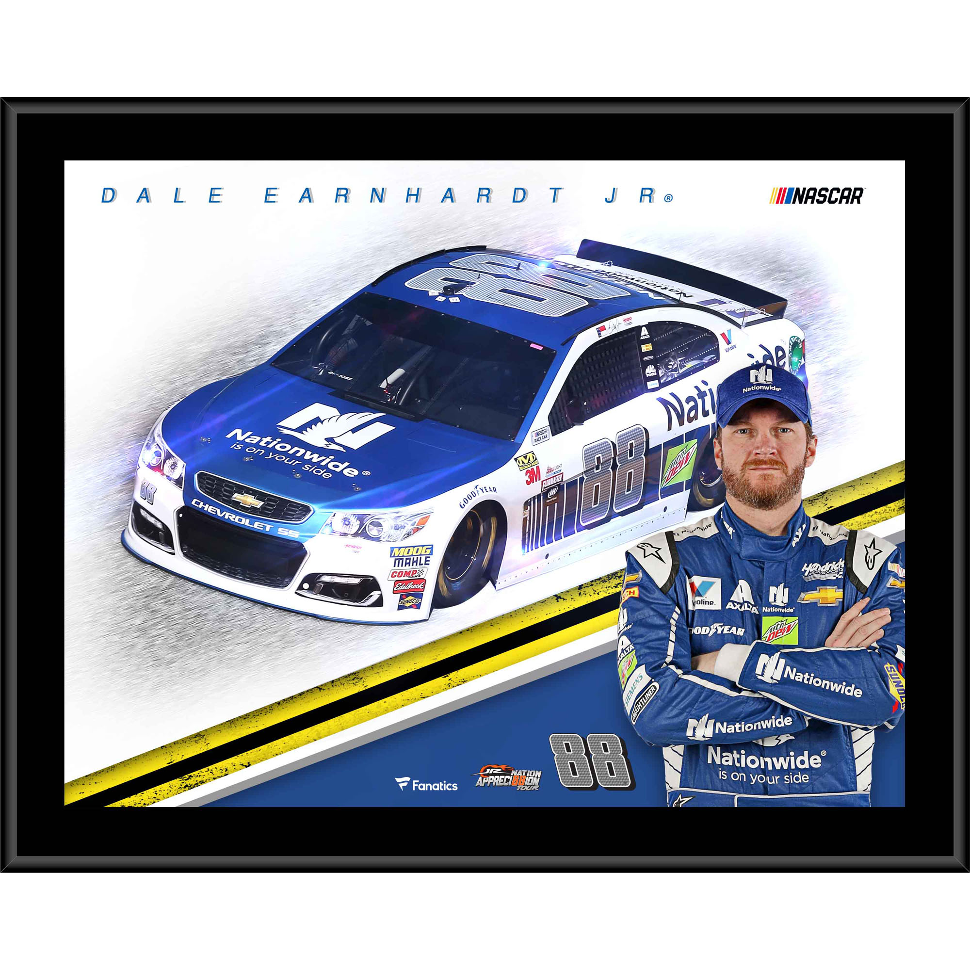 "Dale Earnhardt Jr. Fanatics Authentic 12"" x 15"" Nationwide Sublimated Plaque - No Size"