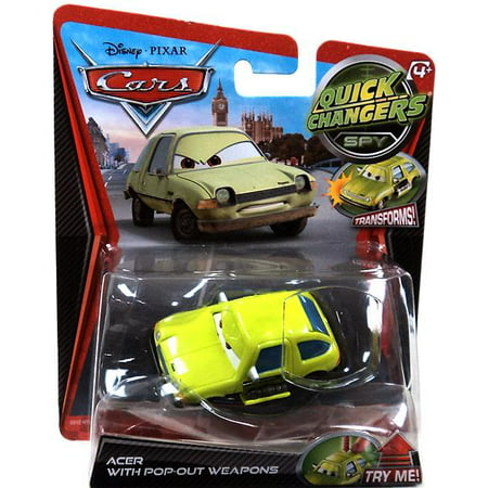 Disney Cars Quick Changers Spy Acer with Pop-Out Weapons Diecast