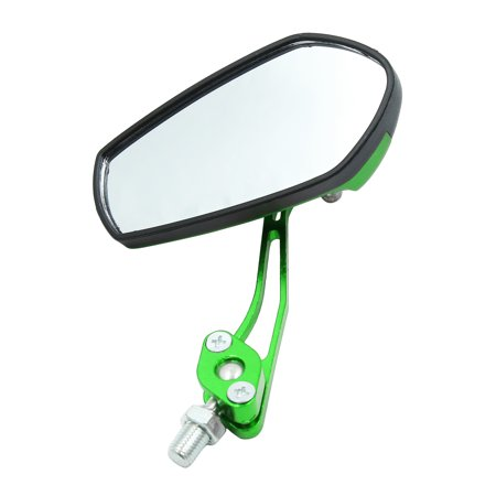 2pcs Universal Green Adjustable Motorcycle Bar End Side Rearview Mirrors - image 3 de 5