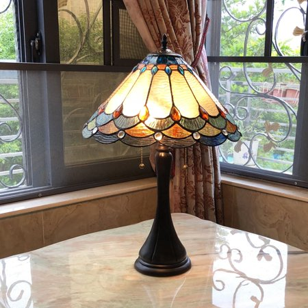 Antique Brass Tiffany Table Lamp - Tiffany Style 2-light Antique Dark Bronze Table Lamp