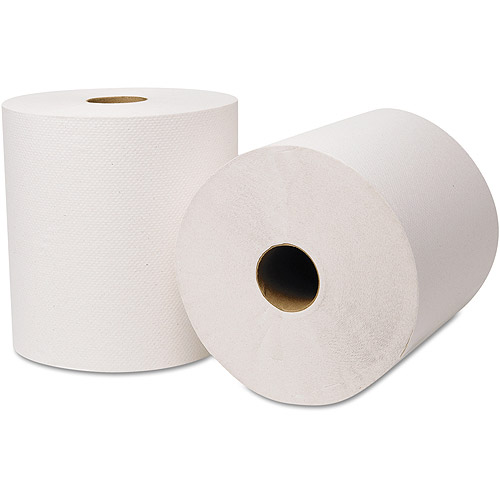 Wausau Paper EcoSoft Hardwound Roll Paper Towels, 6 rolls