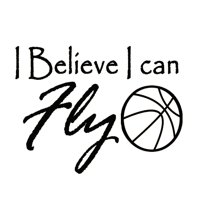 VWAQ I Believe I Can Fly Basketball Wall Decals Vinyl Wall Art Quote Lettering Sports Inspirational Home Decor