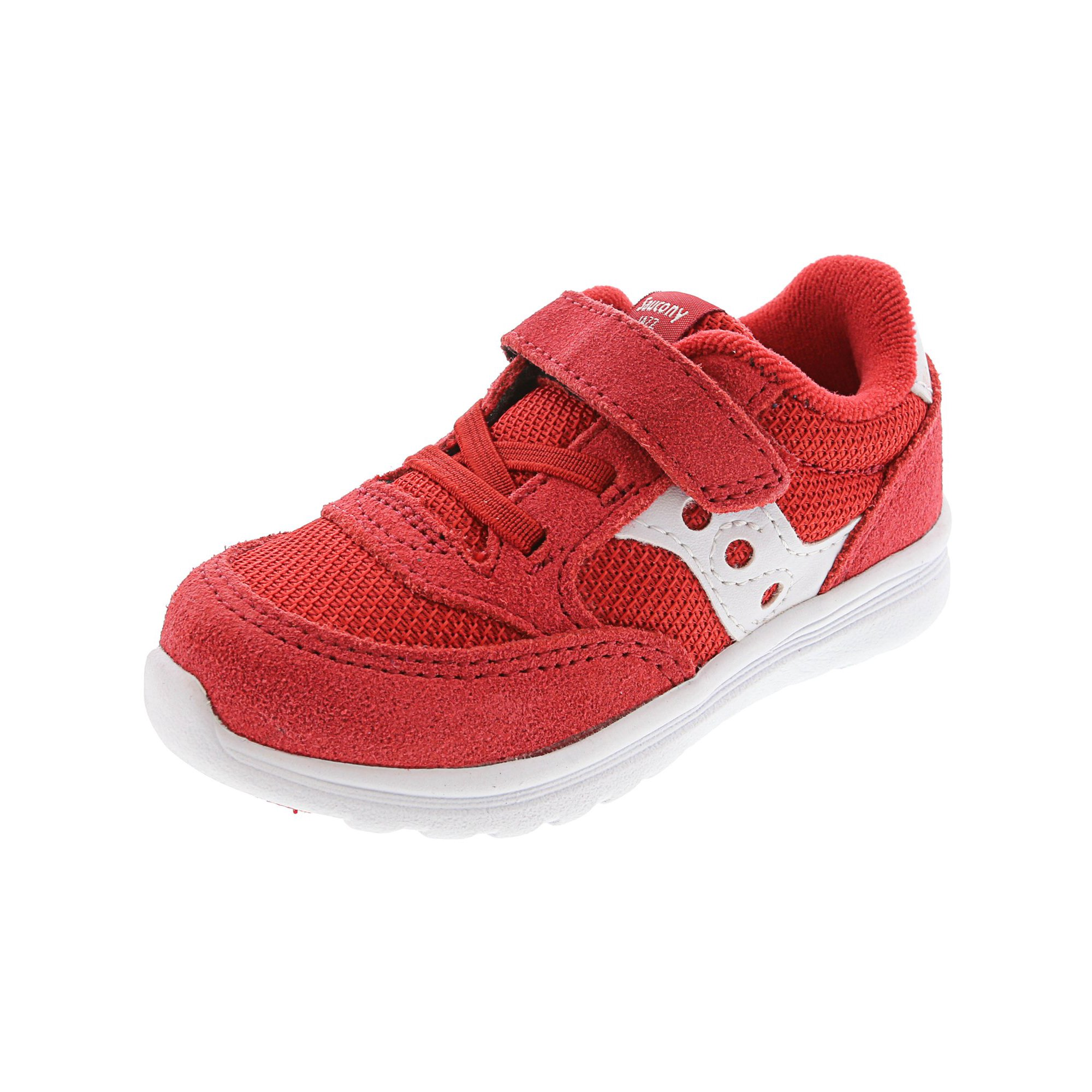 f2d933e8 Saucony Boy's Jazz Lite Red Ankle-High Suede Fashion Sneaker - 5.5M ...