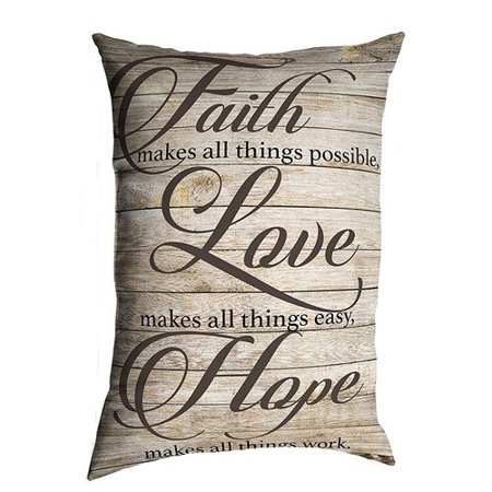 August Grove Anselmo Faith Love Hope EcoFriendly Religious Quotes Enchanting Faith Love Hope Quotes