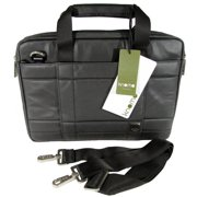 "Knomo  London Womens Lincoln 13"" Laptop Briefcase Bag, Black Matte"
