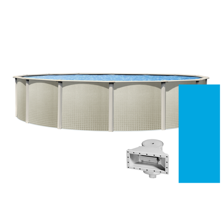 """Impressions Round Above-Ground Swimming Pools   48"""" Wall Height {Choose Size}"""