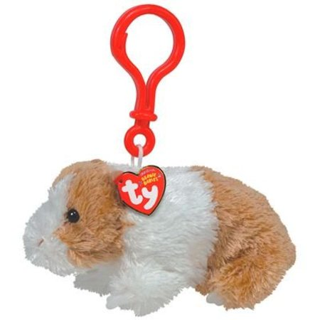 TY Beanie Baby - TWITCH the Guinea Pig ( Plastic Key Clip ) - Ty Keychains