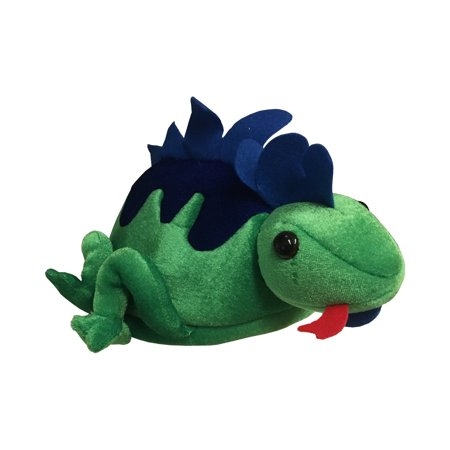 Child's Green Rainforest Lizard Zoo Animal Hat Costume - Forest Costume