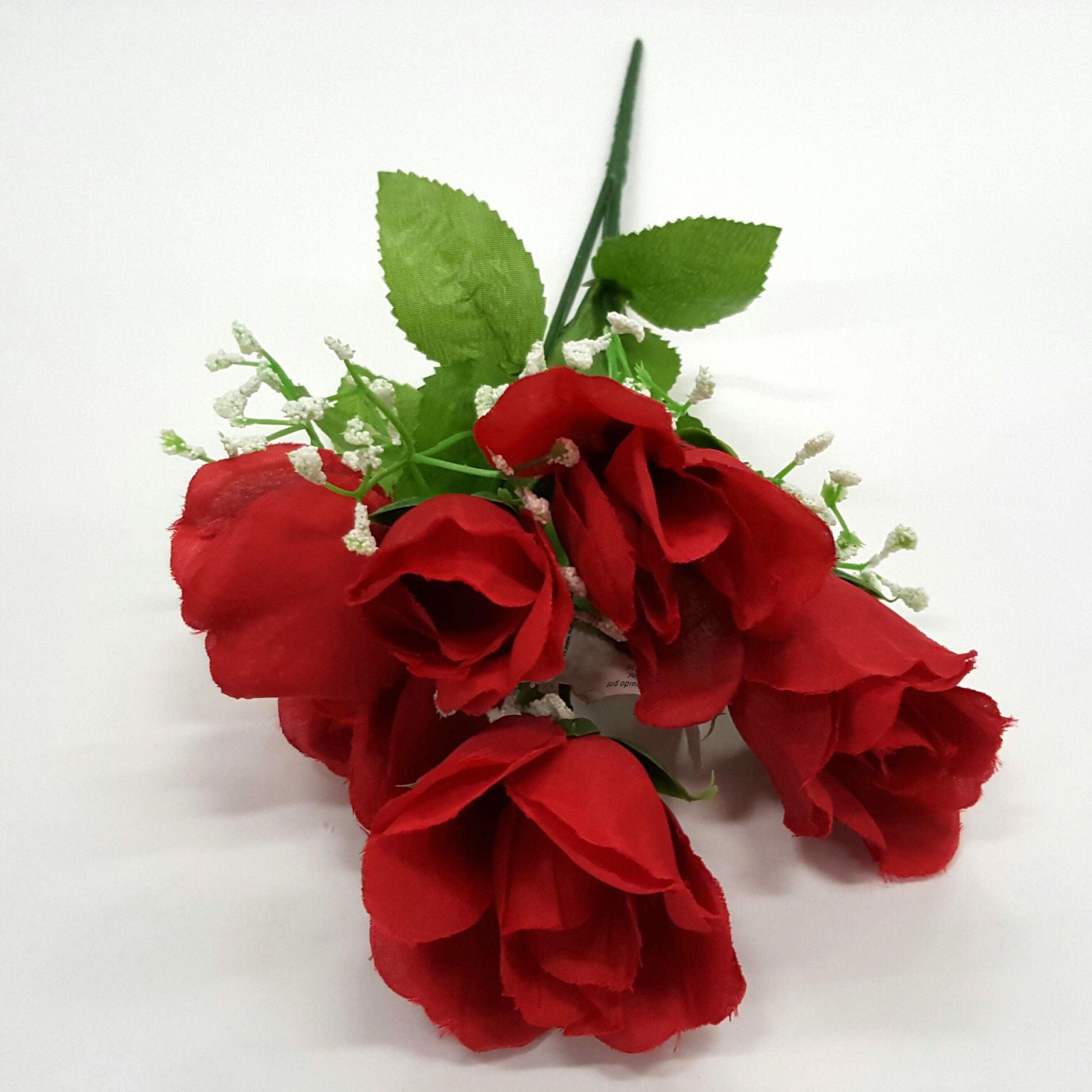 Red Rose Bud Bush, 1 Each
