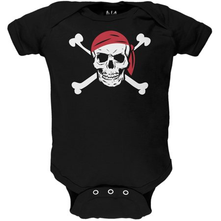 Jolly Roger Pirate Costume Baby One Piece](Baby Pirate Clothes)