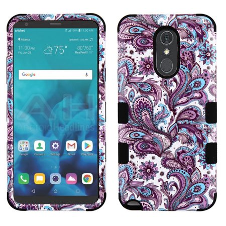 - Military Grade Certified TUFF Hybrid Armor Case for LG Stylo 4 / Stylo 4 Plus - Persian Paisley