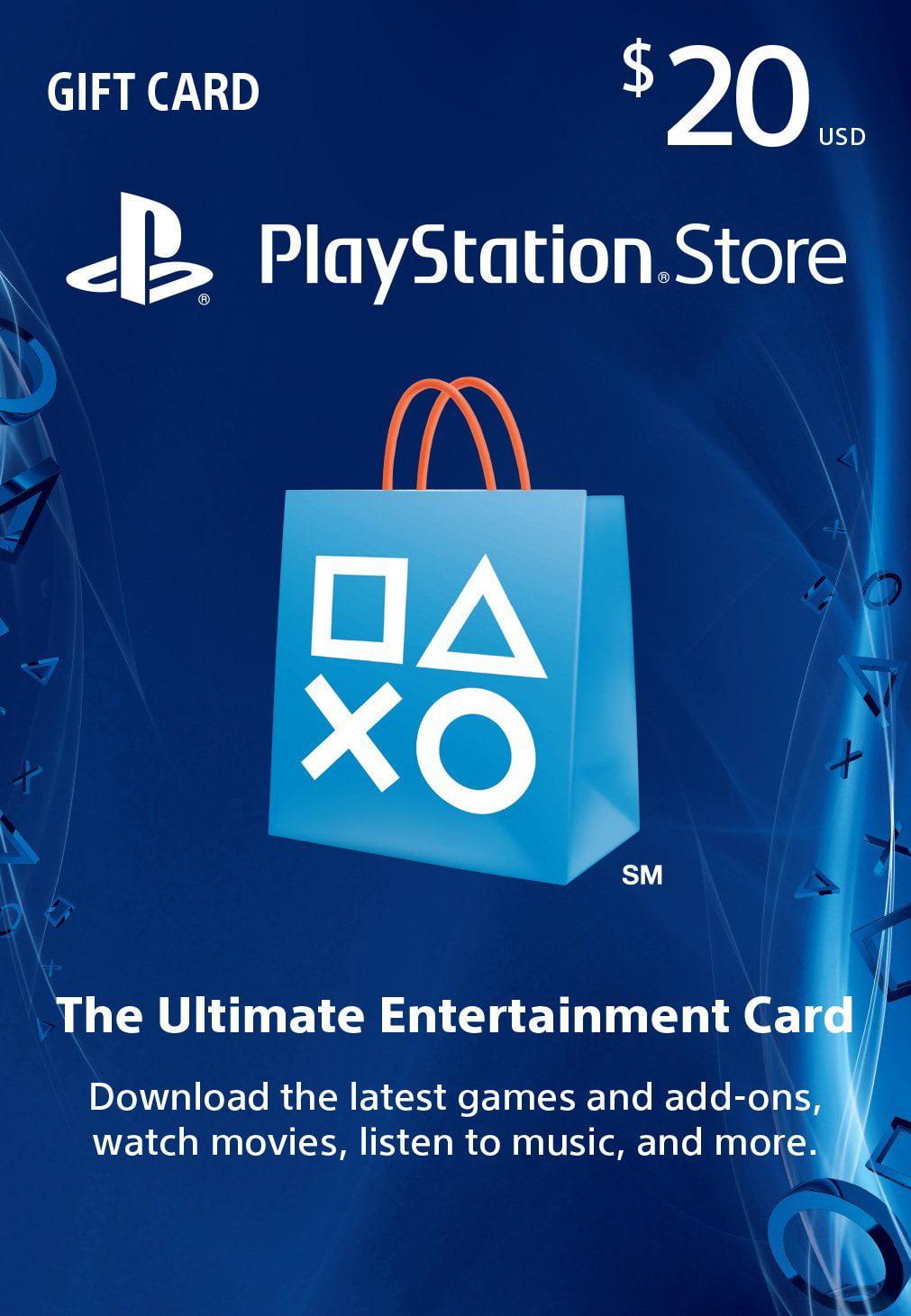 $20 Sony PlayStation Store Card, Sony, [Shipped Digital Card], 711719508441 by Sony