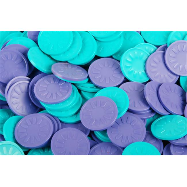 B-Token TOPLSTEM03 Embossed Tokens in Aqua with sun