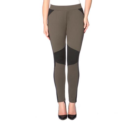 Miss Tina Womens Moto Inspired Skinny Knit Ponte Pants