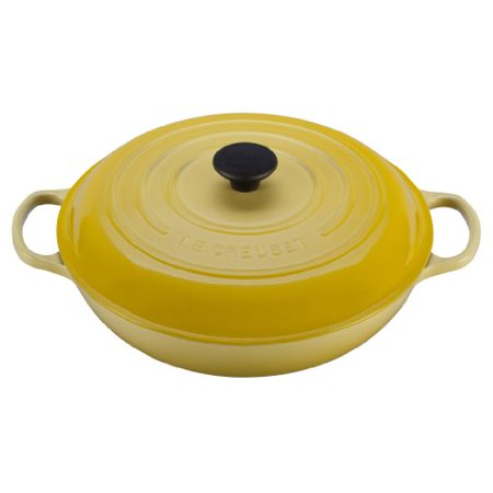 - Le Creuset Signature Enameled Cast-Iron 1-1/2-Quart Round Braiser, Soleil