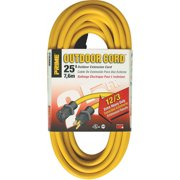 Prime EC500825 25' 12/3 SJTW Yellow Extension Cord