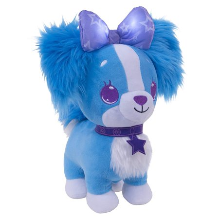 Wish Me Puppy with Blue Fur and Purple Bow & Collar