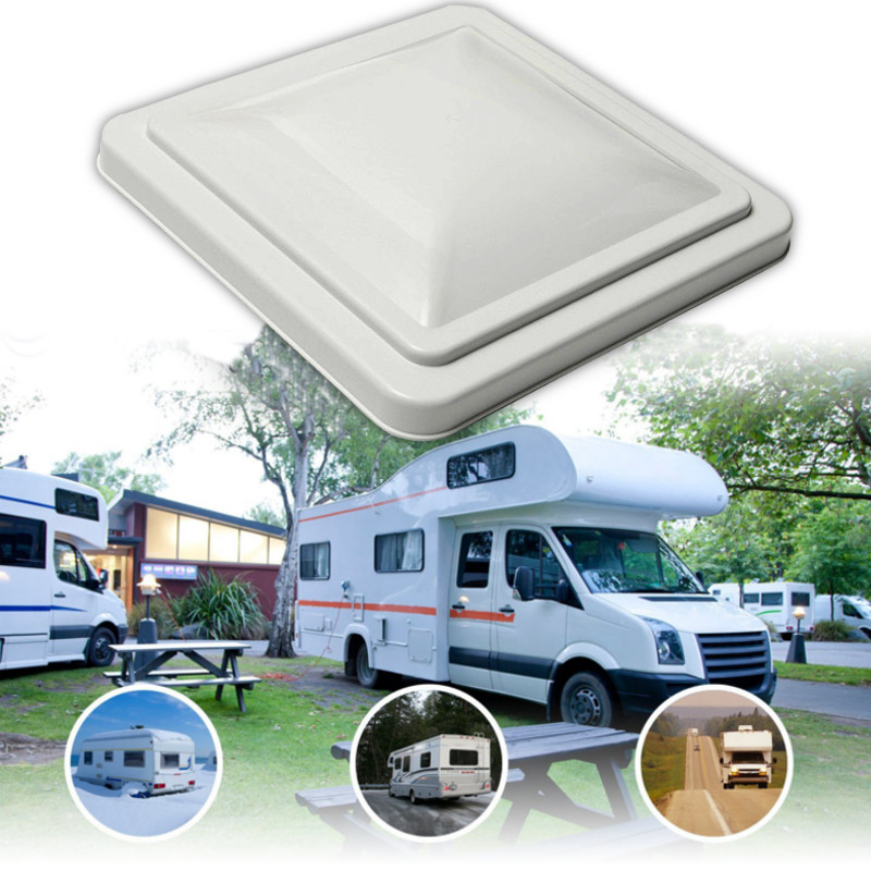 """Replacement Roof Vent Cover Lid RV Trailer rv 14""""x 14"""" Opaque White"""