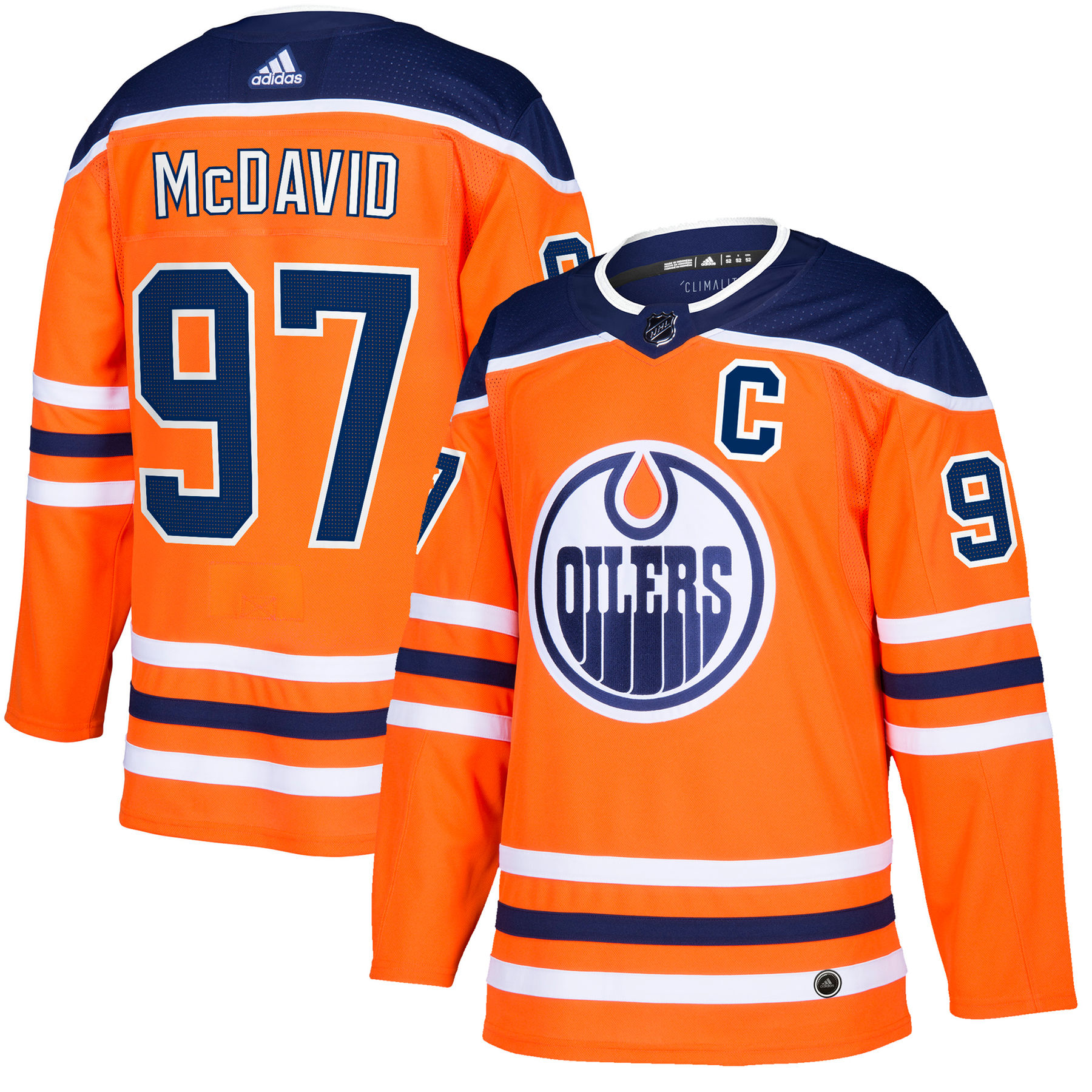 ffc8a6899 Connor McDavid Edmonton Oilers adidas NHL Authentic Pro Home ...