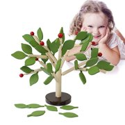 BOBORA 3D DIY Tree Puzzle Wooden Blocks Educational Toys for Children Kids