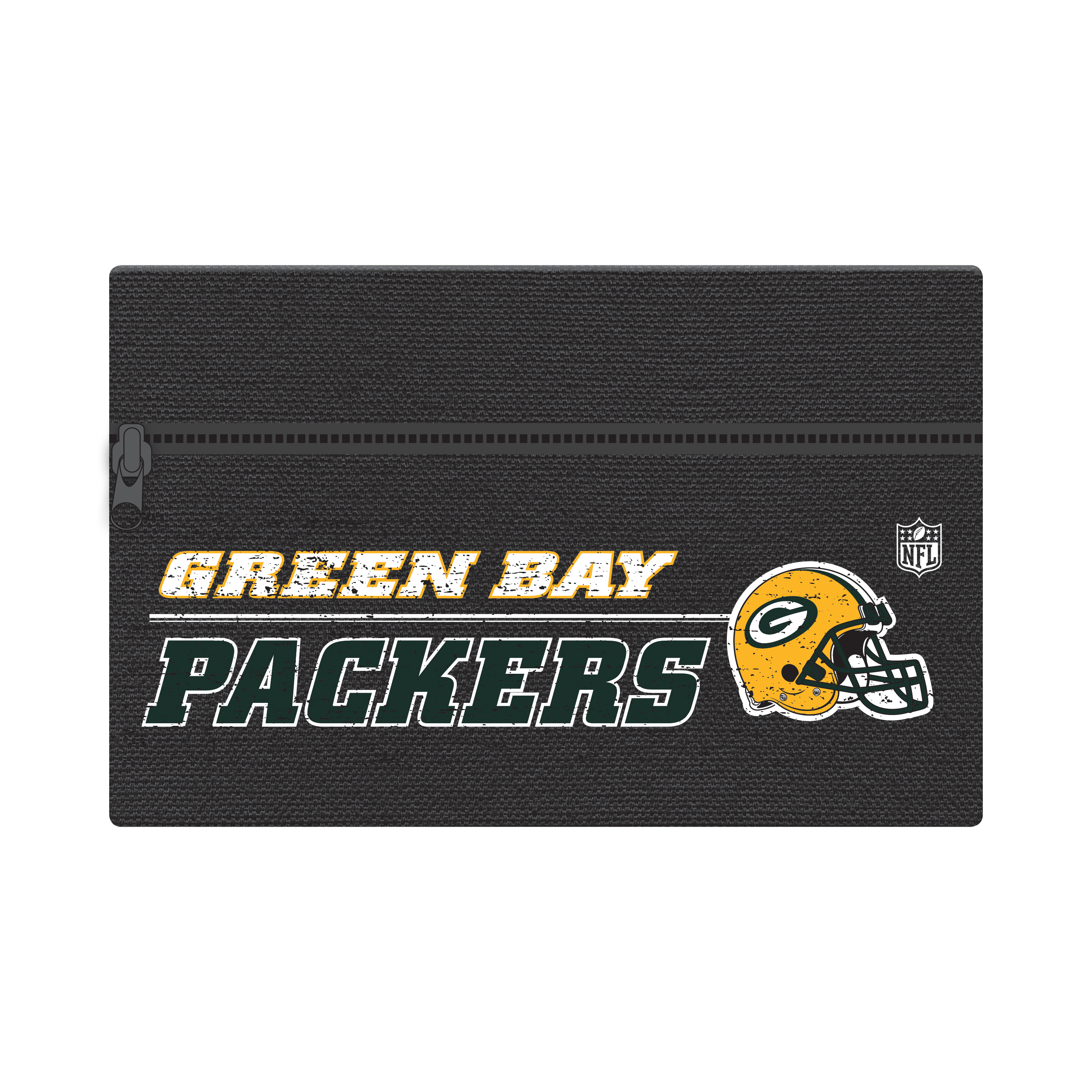"NFL Green Bay Packers Zippered Cotton Canvas Pencil Pouch, 7.5"" by 4.625"""
