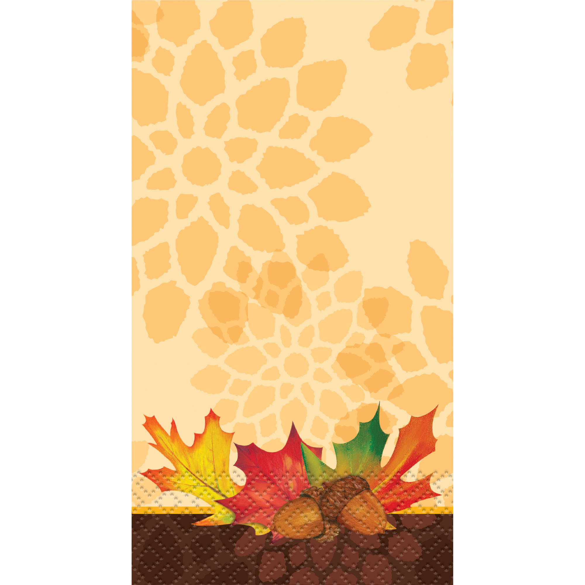 Fall Leaves Paper Guest Napkins, 7.75 x 4.5 in, 16ct