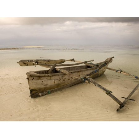- Pwani Mchangani Village on East Coast. Fishing Boat on Beach Print Wall Art By Ariadne Van Zandbergen