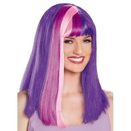 Twilight Sparkle Wig (Morris Costumes DG85538 Twilight Sparkle Adult Wig)