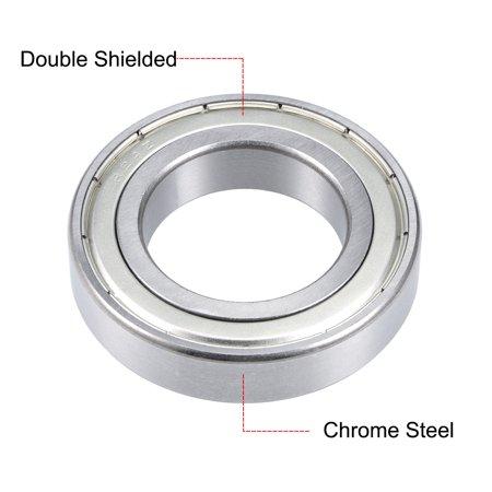 "R24ZZ Deep Groove Ball Bearing 1-1/2""x2-5/8""x9/16"" Shielded Chrome Bearings - image 3 of 4"