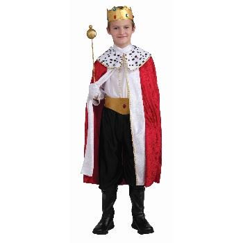 REGAL KING set royal prince boys kids halloween costume medieval knight MEDIUM