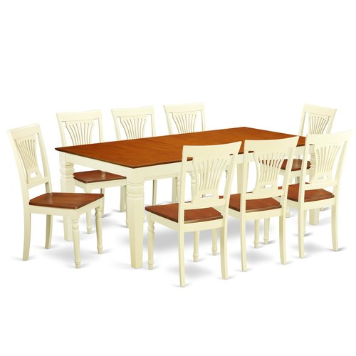 Darby Home Co Beesley 9 Piece Extendable Solid Wood Dining Set