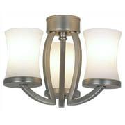3-Light Satin Nickel Modern Ceiling Fan Light Kit